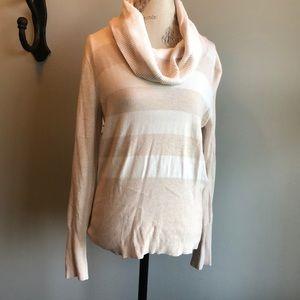 Cream striped sweater